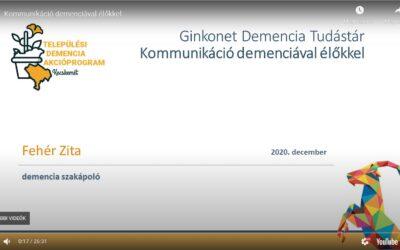 Fórum a demenciáról 3. – Kommunikáció a Demenciával élőkkel